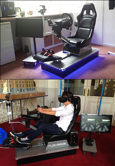 We used the Playseat for the ultimate VR race experiences